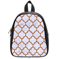 TILE1 WHITE MARBLE & RUSTED METAL (R) School Bag (Small)
