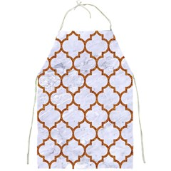 TILE1 WHITE MARBLE & RUSTED METAL (R) Full Print Aprons