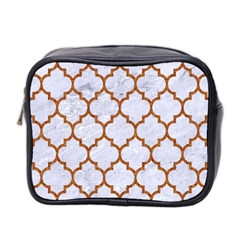 TILE1 WHITE MARBLE & RUSTED METAL (R) Mini Toiletries Bag 2-Side