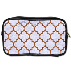 TILE1 WHITE MARBLE & RUSTED METAL (R) Toiletries Bags