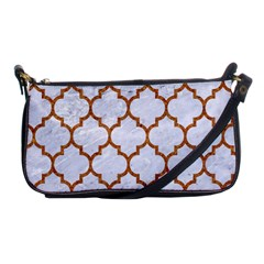 TILE1 WHITE MARBLE & RUSTED METAL (R) Shoulder Clutch Bags