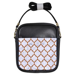 TILE1 WHITE MARBLE & RUSTED METAL (R) Girls Sling Bags