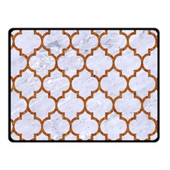 TILE1 WHITE MARBLE & RUSTED METAL (R) Fleece Blanket (Small)
