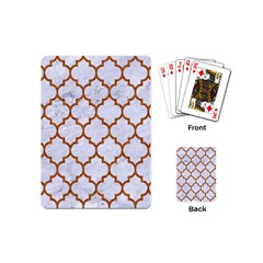 TILE1 WHITE MARBLE & RUSTED METAL (R) Playing Cards (Mini)