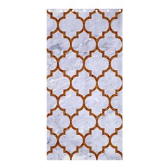 TILE1 WHITE MARBLE & RUSTED METAL (R) Shower Curtain 36  x 72  (Stall)