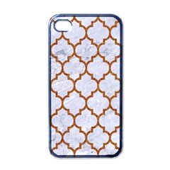 Tile1 White Marble & Rusted Metal (r) Apple Iphone 4 Case (black) by trendistuff