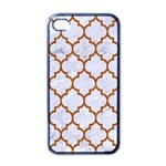 TILE1 WHITE MARBLE & RUSTED METAL (R) Apple iPhone 4 Case (Black) Front