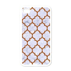 TILE1 WHITE MARBLE & RUSTED METAL (R) Apple iPhone 4 Case (White)