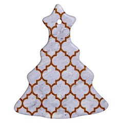 TILE1 WHITE MARBLE & RUSTED METAL (R) Ornament (Christmas Tree)