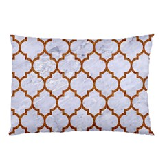 TILE1 WHITE MARBLE & RUSTED METAL (R) Pillow Case (Two Sides)