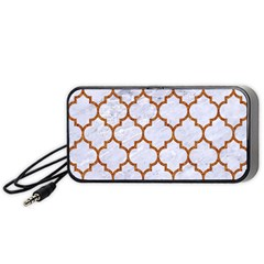 TILE1 WHITE MARBLE & RUSTED METAL (R) Portable Speaker