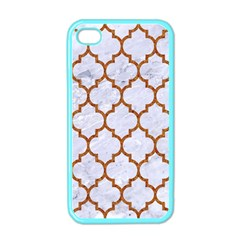 TILE1 WHITE MARBLE & RUSTED METAL (R) Apple iPhone 4 Case (Color)