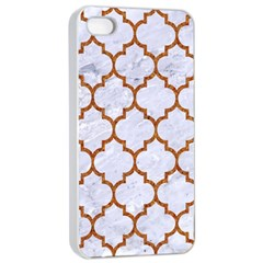 TILE1 WHITE MARBLE & RUSTED METAL (R) Apple iPhone 4/4s Seamless Case (White)