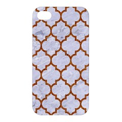 TILE1 WHITE MARBLE & RUSTED METAL (R) Apple iPhone 4/4S Hardshell Case
