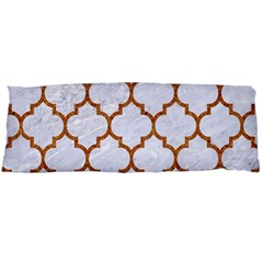 TILE1 WHITE MARBLE & RUSTED METAL (R) Body Pillow Case Dakimakura (Two Sides)