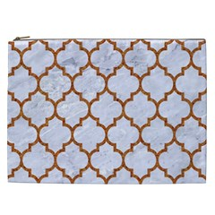 TILE1 WHITE MARBLE & RUSTED METAL (R) Cosmetic Bag (XXL)