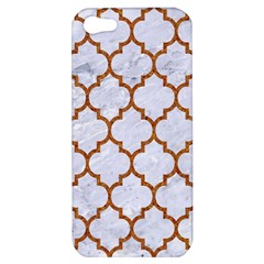 TILE1 WHITE MARBLE & RUSTED METAL (R) Apple iPhone 5 Hardshell Case