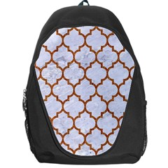 TILE1 WHITE MARBLE & RUSTED METAL (R) Backpack Bag