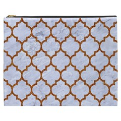 TILE1 WHITE MARBLE & RUSTED METAL (R) Cosmetic Bag (XXXL)