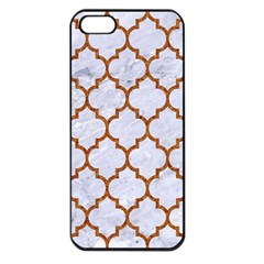 TILE1 WHITE MARBLE & RUSTED METAL (R) Apple iPhone 5 Seamless Case (Black)