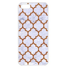Tile1 White Marble & Rusted Metal (r) Apple Iphone 5 Seamless Case (white) by trendistuff