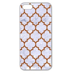 TILE1 WHITE MARBLE & RUSTED METAL (R) Apple Seamless iPhone 5 Case (Clear)