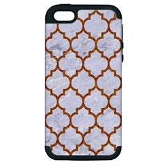TILE1 WHITE MARBLE & RUSTED METAL (R) Apple iPhone 5 Hardshell Case (PC+Silicone)