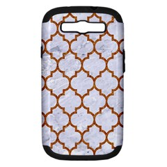 TILE1 WHITE MARBLE & RUSTED METAL (R) Samsung Galaxy S III Hardshell Case (PC+Silicone)