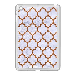 TILE1 WHITE MARBLE & RUSTED METAL (R) Apple iPad Mini Case (White)