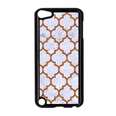 TILE1 WHITE MARBLE & RUSTED METAL (R) Apple iPod Touch 5 Case (Black)