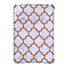 TILE1 WHITE MARBLE & RUSTED METAL (R) Apple iPad Mini Hardshell Case (Compatible with Smart Cover)