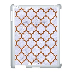 TILE1 WHITE MARBLE & RUSTED METAL (R) Apple iPad 3/4 Case (White)