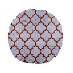 TILE1 WHITE MARBLE & RUSTED METAL (R) Standard 15  Premium Round Cushions