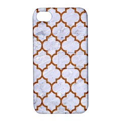 TILE1 WHITE MARBLE & RUSTED METAL (R) Apple iPhone 4/4S Hardshell Case with Stand