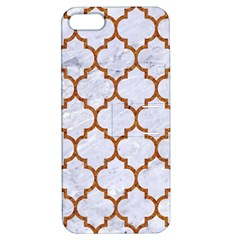 TILE1 WHITE MARBLE & RUSTED METAL (R) Apple iPhone 5 Hardshell Case with Stand