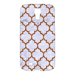 TILE1 WHITE MARBLE & RUSTED METAL (R) Samsung Galaxy S4 I9500/I9505 Hardshell Case