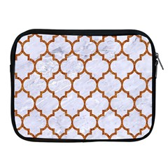 TILE1 WHITE MARBLE & RUSTED METAL (R) Apple iPad 2/3/4 Zipper Cases