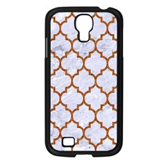 TILE1 WHITE MARBLE & RUSTED METAL (R) Samsung Galaxy S4 I9500/ I9505 Case (Black)