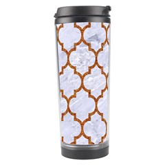 TILE1 WHITE MARBLE & RUSTED METAL (R) Travel Tumbler