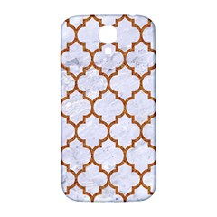 TILE1 WHITE MARBLE & RUSTED METAL (R) Samsung Galaxy S4 I9500/I9505  Hardshell Back Case