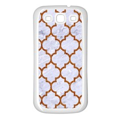 TILE1 WHITE MARBLE & RUSTED METAL (R) Samsung Galaxy S3 Back Case (White)