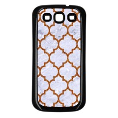 TILE1 WHITE MARBLE & RUSTED METAL (R) Samsung Galaxy S3 Back Case (Black)