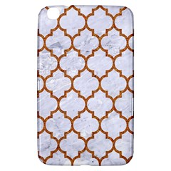 TILE1 WHITE MARBLE & RUSTED METAL (R) Samsung Galaxy Tab 3 (8 ) T3100 Hardshell Case