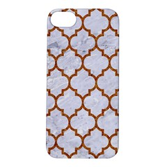 TILE1 WHITE MARBLE & RUSTED METAL (R) Apple iPhone 5S/ SE Hardshell Case