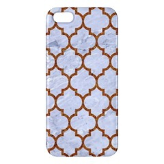 TILE1 WHITE MARBLE & RUSTED METAL (R) iPhone 5S/ SE Premium Hardshell Case
