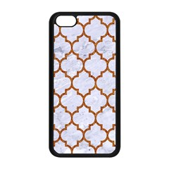 TILE1 WHITE MARBLE & RUSTED METAL (R) Apple iPhone 5C Seamless Case (Black)