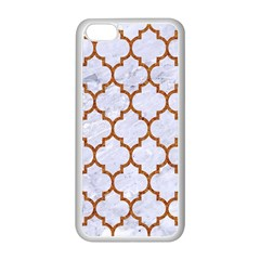 TILE1 WHITE MARBLE & RUSTED METAL (R) Apple iPhone 5C Seamless Case (White)