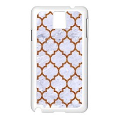 TILE1 WHITE MARBLE & RUSTED METAL (R) Samsung Galaxy Note 3 N9005 Case (White)