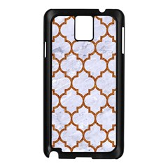 TILE1 WHITE MARBLE & RUSTED METAL (R) Samsung Galaxy Note 3 N9005 Case (Black)