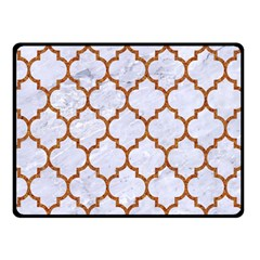 TILE1 WHITE MARBLE & RUSTED METAL (R) Double Sided Fleece Blanket (Small)